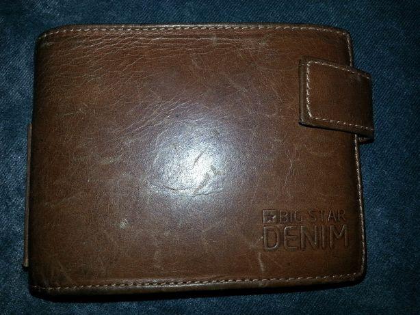 sprzedam męski portfel brązowy