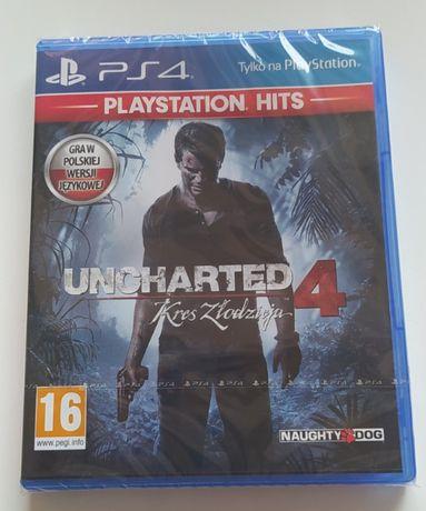 Uncharted 4 Kres Złodzieja na PS4 nowa w folii. Polska wersja językowa