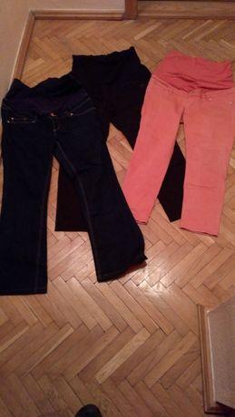 Spodnie ciążowe h&m mama 3 pary 44-46 boutcut rurki gratis bluzka c&a