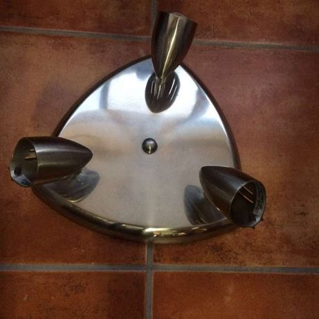 Candeeiro luminária plafon 3 focos teto