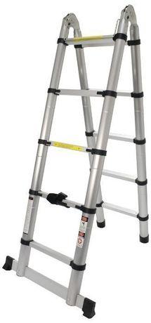 Escada Articulada, Alumínio, 5 + 5 Degraus , 3.16m - MADER® | Hardware