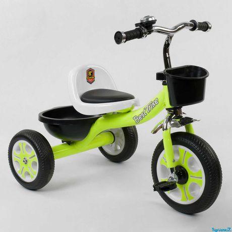 Распродажа. Детский трехколесный велосипед BEST TRIKE LM зеленый