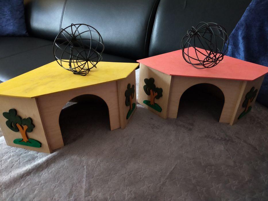 2 Domki i 2 kule dla świnek królików Zgierz - image 1
