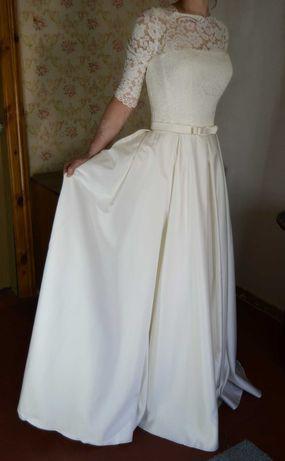 Продам свадебное платье А силует, цвет айвори