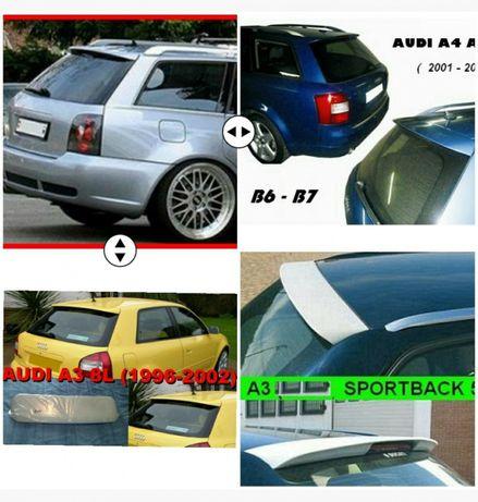 Alerons Audi (A3 8L 8P, A4 Avant B5 B6 B7, Sedan)