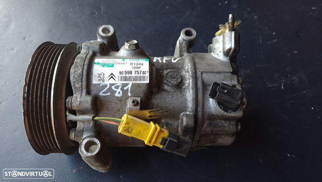 Compressor AC Peugeot 207 / 308 / Partner / Citroen C3 / C4 1.6 Hdi / 1.4 Ref. 9659875780