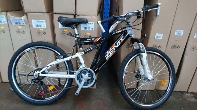 "OKAZJA ! NOWY markowy rower ROMET Full MTB 24"" SHI hamulce TARCZA gwar"