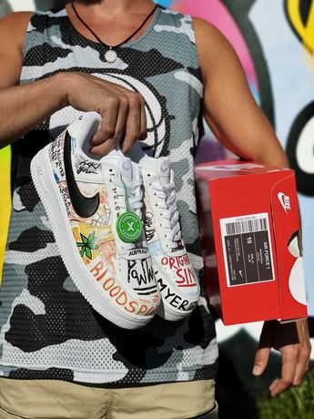 Мужские Кроссовки Nike Air Fоrce 1 White (AAA)40-41-42-43-44-45