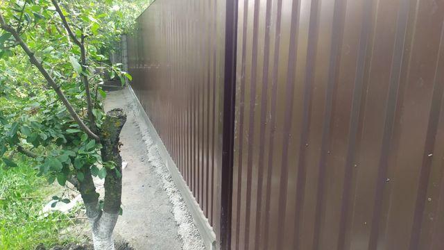 Профнастил. Забор из профнастила. Установка и монтаж профнастила