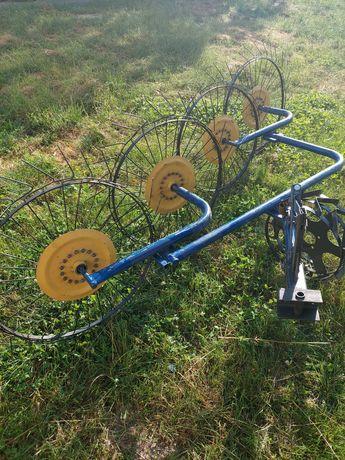 Граблі сонечко 4 колеса