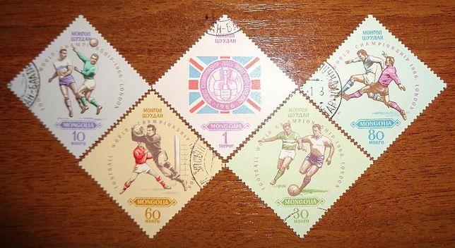 1966 год марки Монголия чемпионат мира по футболу Лондон