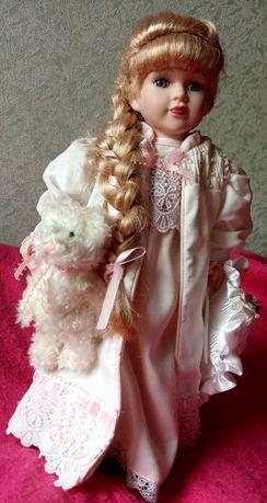 фарфоровая кукла Genuine Porcelain Doll limited Edition из США