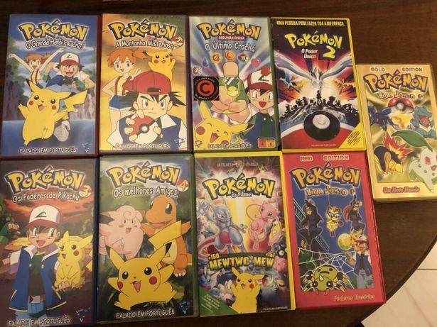 Filmes Pokémon Série 1 e 2 completa VHS