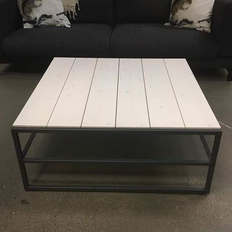 Ikea stolik kawowy RAKENÄS loft drweno