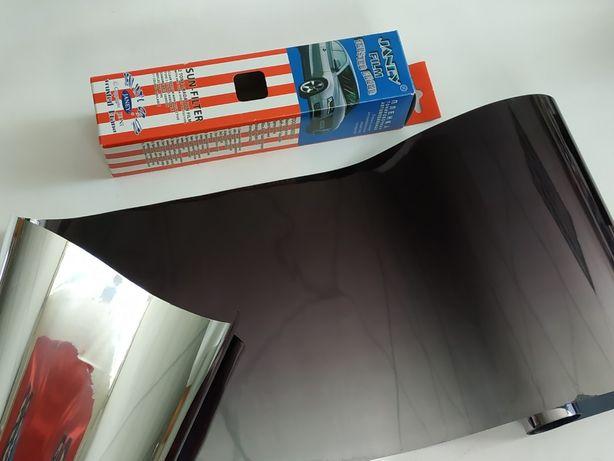 Пленка на лобовое стекло с переходом JANEY Black/Silver 20 x300 см