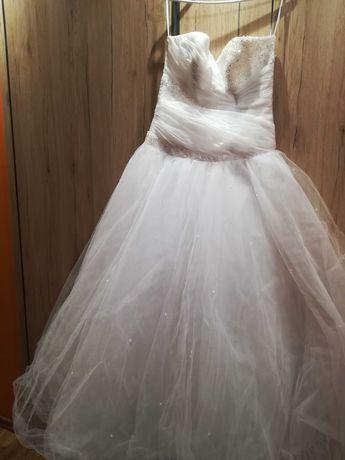 Suknia ślubna 40 cyrkonie Swarovskiego princeska księżniczka