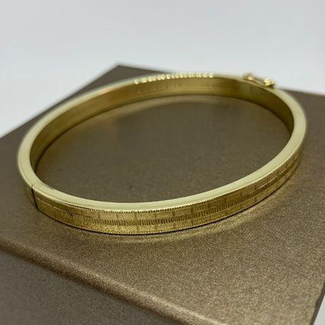 Piękna, złota bransoletka p333