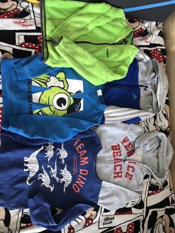 5 bluz dresowych 110-116