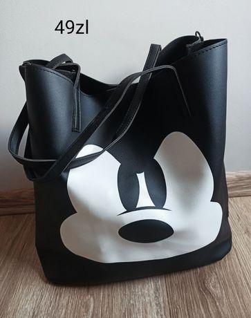 Torba Czarna duża Myszka Miki Mickey shoperka