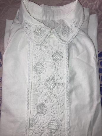 Koszula lachowska z białym haftem, ręcznie wyszywana