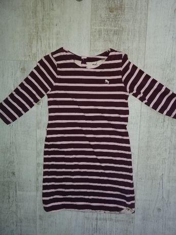Платье с рукавчиком 3/4 H&M для девочки 6-8 лет, рост указан 122-128