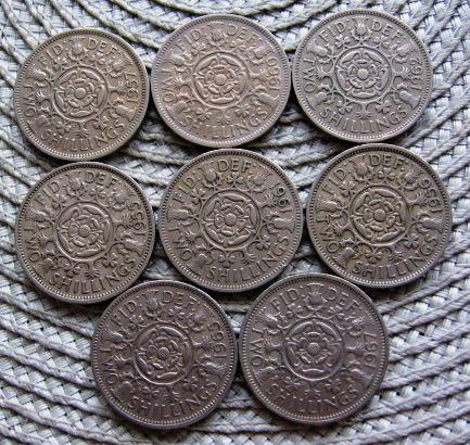 Wielka Brytania 2 Shillings ( Floren )--4 szt--Elżbieta II
