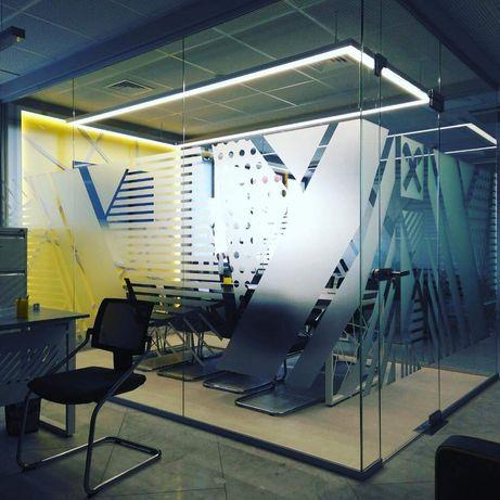 Демонтаж стекляных офисных перегородок
