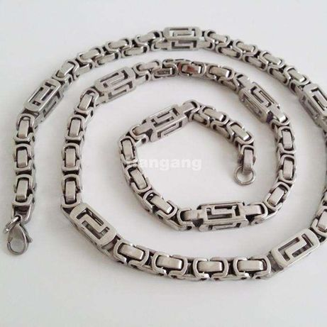 Srebrny łańcuszek,byzantine,splot królewski,figaro,pancerka,galibardi