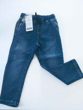 Nowe elastyczne jeansy coccodrillo na gumie 104