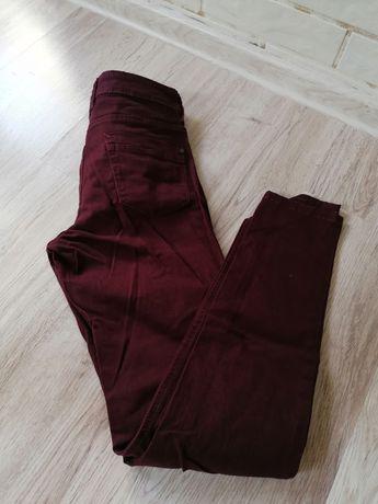 Bordowe spodnie piękne m