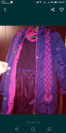 Зимова куртка на дівчинку до 145см. Куртка довжиною майже до колін