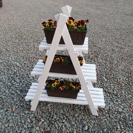 Kwietnik, drabinka na kwiaty na balkon, stojak na doniczki do ogrodu