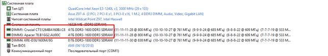 Оперативная память ddr8gb (2x4) 1600Mgh