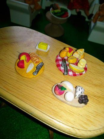 Deska serów Talerz z serami Maselniczka Domek dla lalek Dollhouse