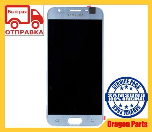 Дисплей с сенсором Samsung J330 Galaxy J3 Silver GH96-10992A Оригинал