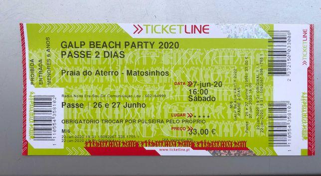 Galp Beach Party 2021 - Passe 2 dias