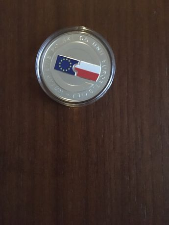 Moneta srebrna 10 zl Wstapienie Polski do UE