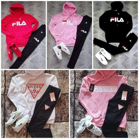 Komplety damskie z logo Nike Guess Fila kolory S-Xl!!!