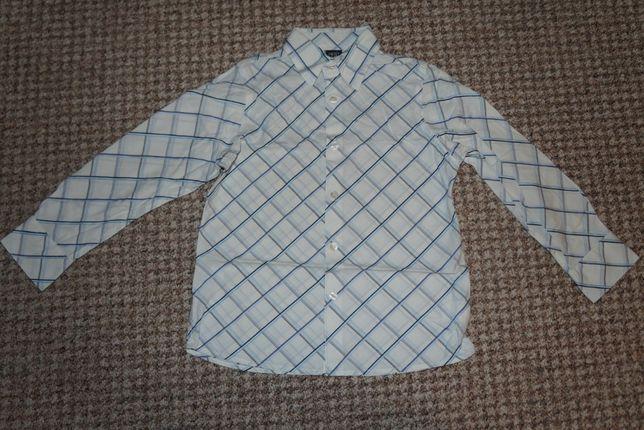 koszula długi rękaw, w skośną kratę marki Next wiek 6 lat, r. 116