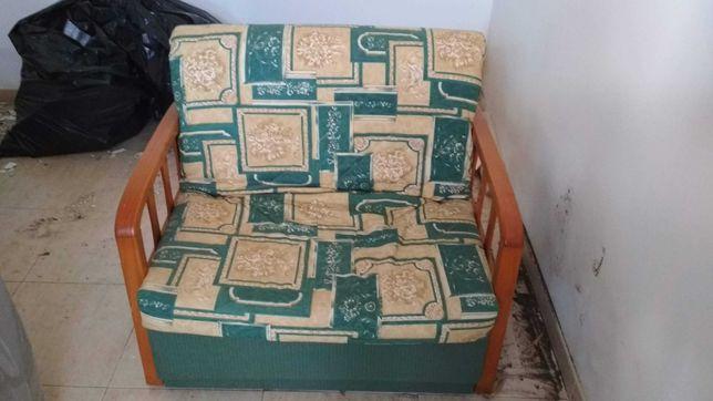 Sofá cama singular tipo cambalhota (usado)