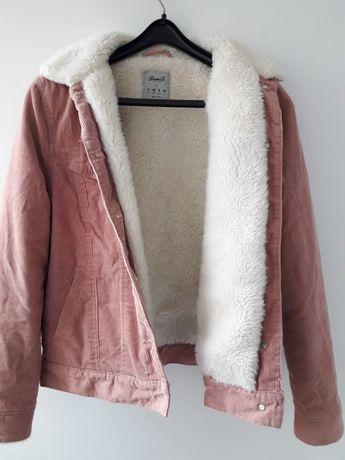 Вильветовая куртка на меху/ шерпа DENIM (ориг) М Оверсайз