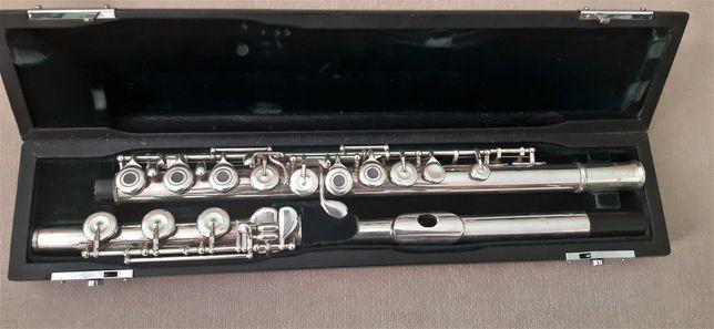 Flet poprzeczny Pearl FP 665 srebrna główka otwarte klapy