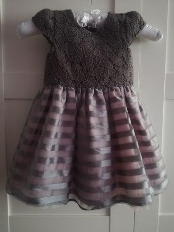 Piękna sukienka na święta, urodziny 18-24m