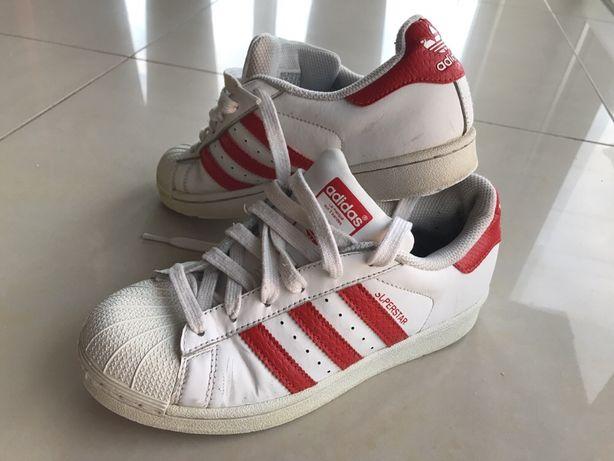 Adidas superstar białe czerwone paski 36 korki nike gratis
