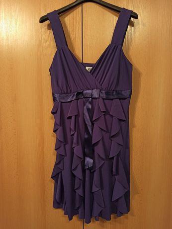 Sukienka fioletowa wieczorowa, elegancka, krótka. 40/42