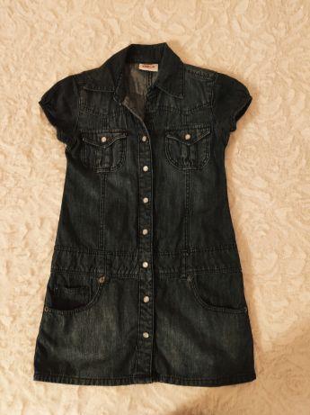 Idealna sukienka jeansowa YIGGA rozm. 134 cm