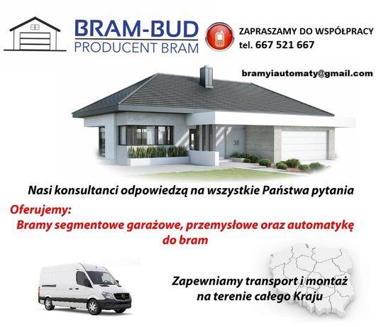 Producent Brama garażowa segmentowa Bramy garażowe przemysłowe 3*2,51