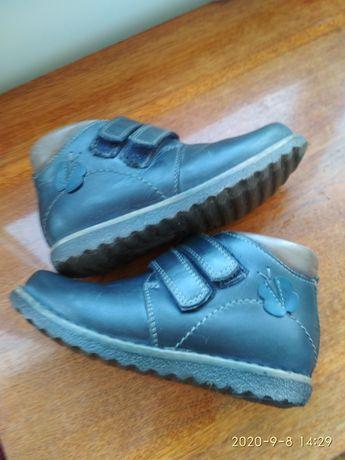 Кожаные ботинки:29 размер ( стелька:19 см)