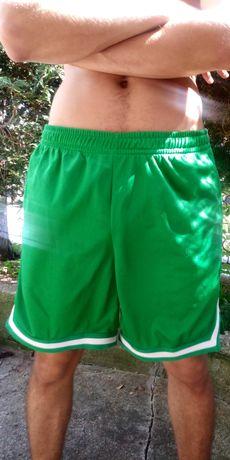 Spodenki koszykarskie zielone koszykówka Urban Classics rozmiar M