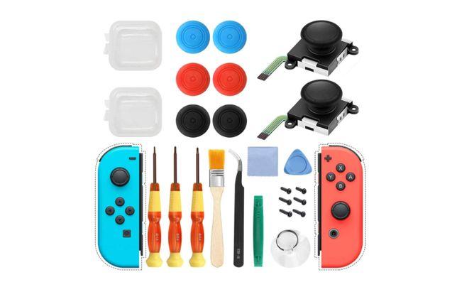 Kit de reparação Joycon Joystick Nintendo com ferramentas 25 peças